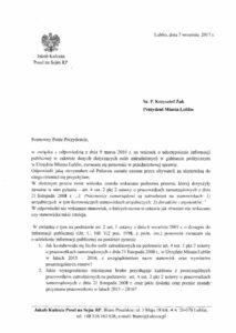 """Stanowiska w """"gabinecie politycznym"""" w Urzędzie Miasta Lublin"""