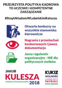 Poseł Jakub Kulesza wystartuje w najbliższych wyborach samorządowych z Komitetu Kukiz, Wolność, Lubelscy Patrioci i Ruchy Miejskie.